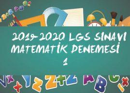 8. Sınıf LGS Matematik Denemesi-1